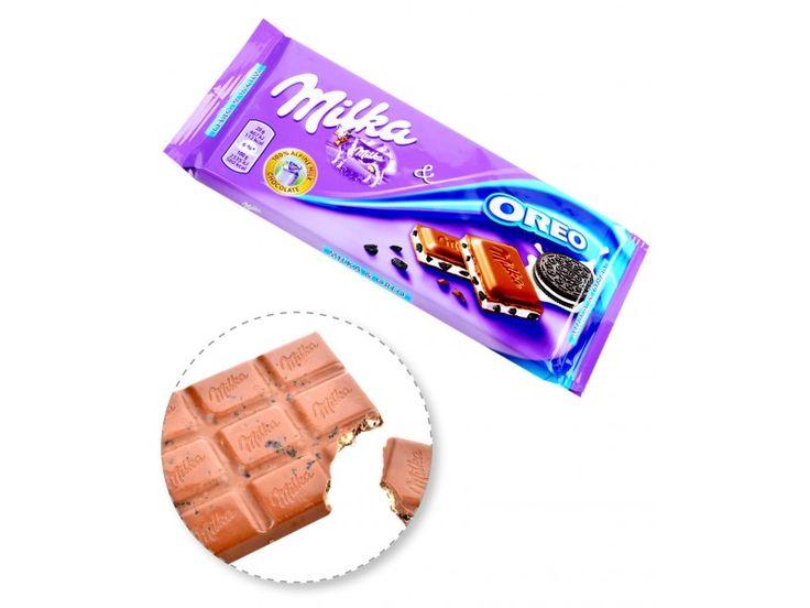 Tavoletta di Cioccolato con Oreo Milka gr.100 ,99$ - #chocolate #cacao #cioccolato #marmorizzata #oreo #cookies biscotti #biscuit tavoletta #sweet #dessert #sugar zucchero ☆_