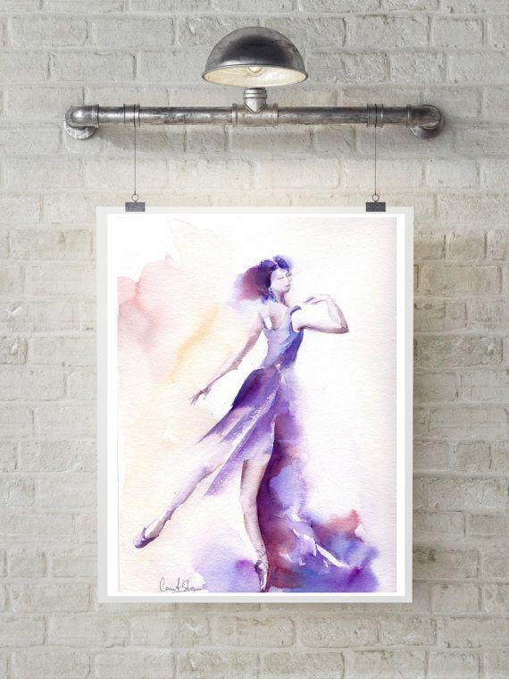 Ballerina aquarel Originele aquarel Ballet aquarel schilderij kunst Ballerina in paars  Een van een soort Art aquarel kunstwerk  Grootte: 9x11.5 (23x29cm) Medium: top merkproducten aquarel verven op Canson water kleur koude druk papier 140 pond (300g)  Ondertekende voor- en achterkant Gedateerd op de achterkant. Niet ingelijst.  Alle schilderijen zijn geschenk verpakt in een cellofaan invoegen en kartonnen steun voor optimale bescherming, per geregistreerde internationale post verstuurd met…