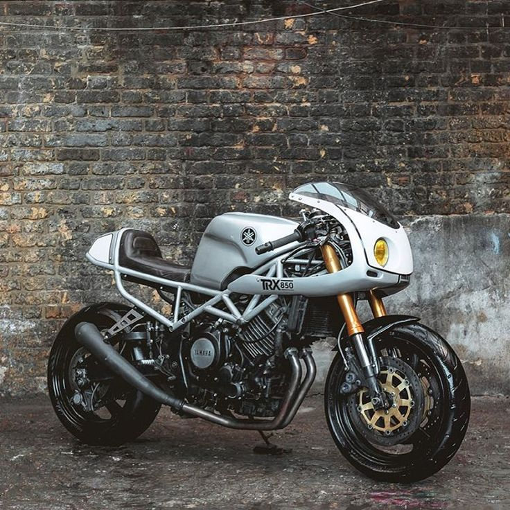 "M E G A D E L U X E (@megadeluxe) on Instagram: ""SEB HIPPERSON'S TRX850. Via the Bike Shed. #yamaha #motorcycle #caferacer #motorsports :: Photos by…"""