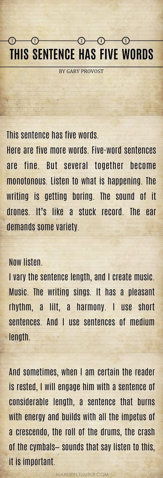 Thx4posting, marmouset.Writing tips by GaryProvost on Imgur