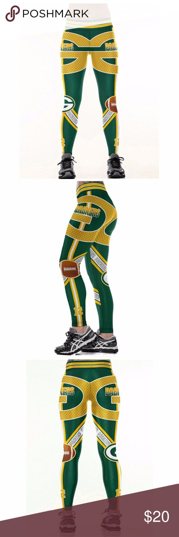 GreenBay Packers Leggings Lightweight soft- quick dry breathable fabric Suitable for any kind of workout, gym, yoga, Zumba, cycling, etc. or casual wear High-quality construction with 6-thread double lock stitch seams Four-way Stretch Material: 82% Polyester, 18% Spandex Pants Leggings