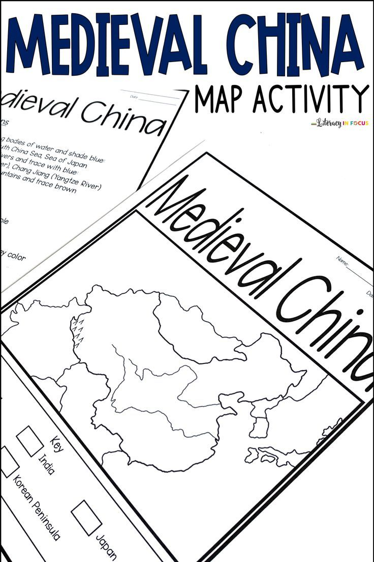 Medieval China Map Activity   Google Classroom   Distance Learning   Map  activities [ 1104 x 736 Pixel ]