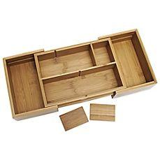 image of Lipper International Bamboo Expandable Organizer Tray