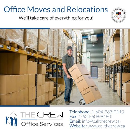 From Satellite Project Management to Space Planning, to Warehousing, Deliveries and Installations, The Crew are there for you! Call us for more details 1-604-987-0110.
