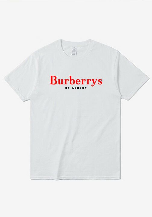 013a9821 Burberry90 of London Red Logo White Unisex Man Woman Custom Personilized T  Shirt #fashion #