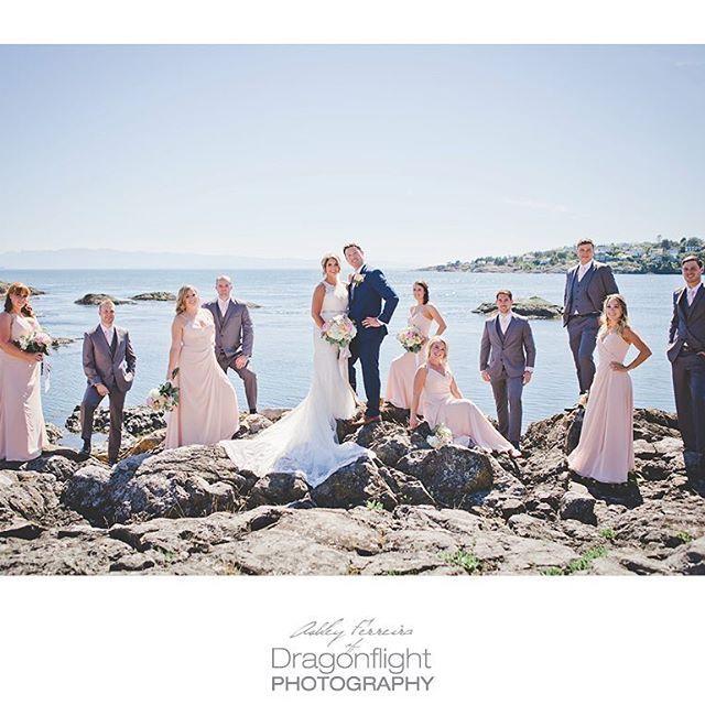 ocean/beach wedding, victoria bc photo by @dragonflightphotography victoria, bc weddings