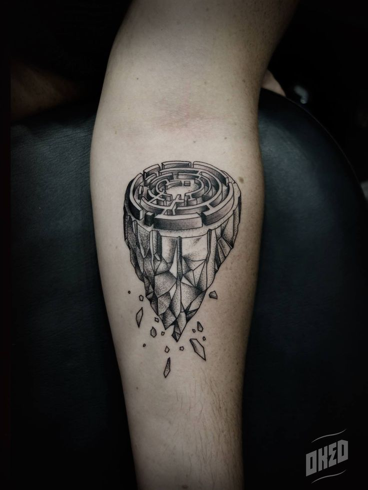 Surrealistic tattoo made by Pierre Oked.
