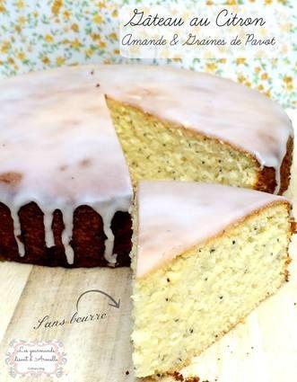 Gâteau au citron, amandes et graines de pavot (sans beurre, sans lactose, sans gluten)