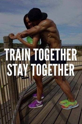 Train Together--Stay Together.. My favorite part of the day is getting fit with my husband! Everything we do together is fun, but getting healthy together is the best! <3