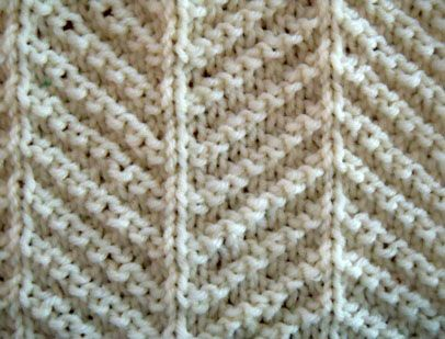 Herringbone Texture. Only knit and purl stitches are used to make up this herringbone texture pattern