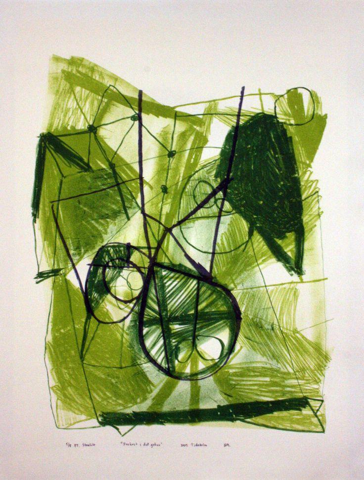 """The Luncheon on the Grass "", 2009 50x66 cm stenlitografi på Rives-papper, eget tryck, uppl. 8 David Myrvold"