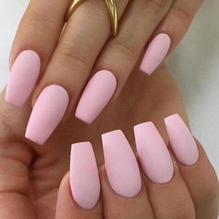 Schone Rosa Nagelkunst Die Sie Kopieren Konnen Nageldesign Nailart In 2020 Pink Acrylic Nails Pastel Pink Nails Matte Pink Nails