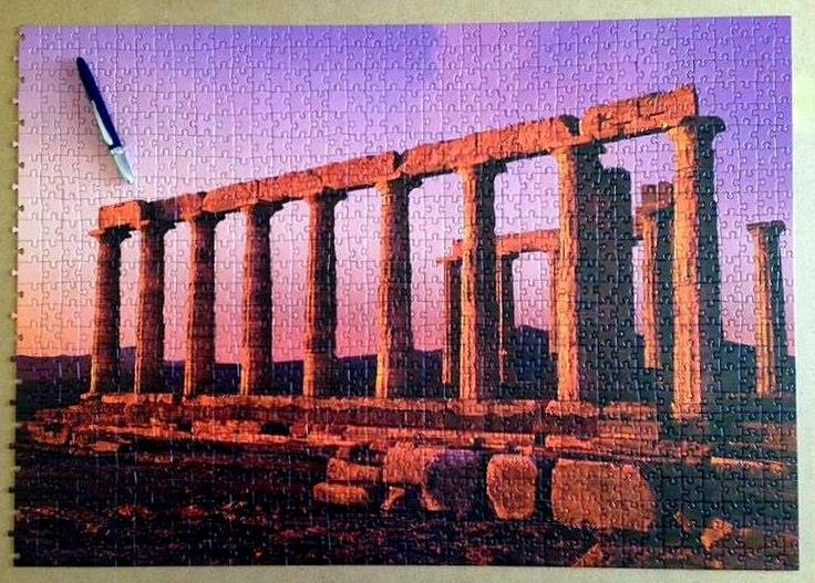 Part 1 Heye (1000 pieces ) Participation WPD 2016  Poseidon's Temple — in Athens, Greece.