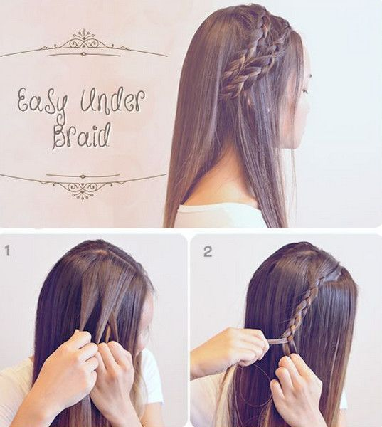 Easy Under Braid - Easy Back to School Hairstyles to Let You Sleep In Later - Photos