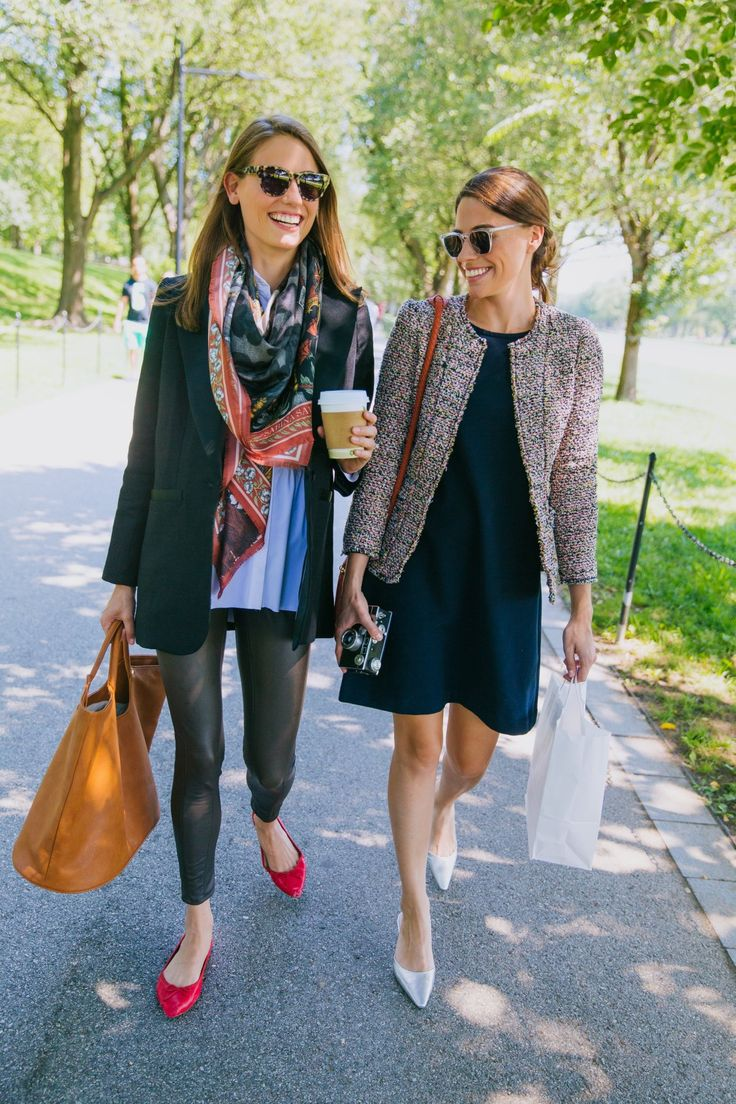 We're heading out for some coffee and sightseeing in tweeds and linens. (And our bff of course).