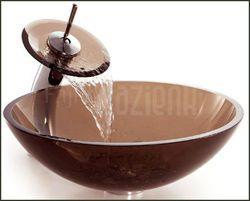 Umywalka blatowa szklana 71004,  Średnica 420 mm; Głębokość 140 mm;, SANITTI #glass #washbasin #bathroom #lazienka