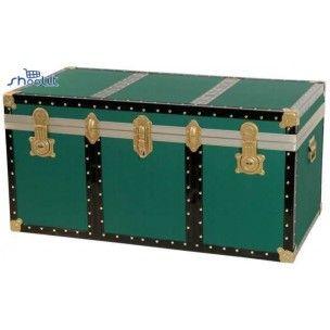 Baule Legno Verde - Vintage Arredo Casa Made in Italy - http://www.shoolit.com/it/bauli-in-legno-e-alluminio-/248-baule-legno-verde-110x55x55.html