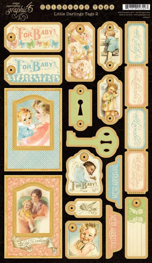 Graphic 45 Sneak Peeks: Little Darlings Chipboard & Stickers - Graphic 45®