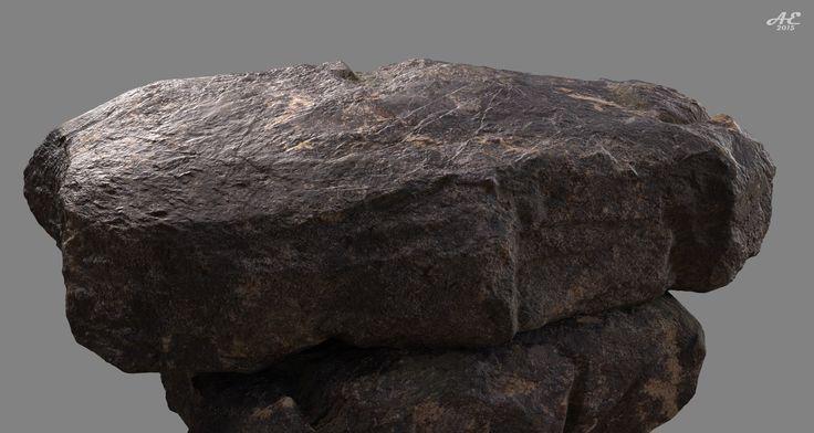 3D Rock surface, Environment props
