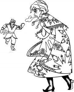 Karlar ülkesi Frozen Anna üşüyor Boyama Sayfası Pdf Sayfa Boyama