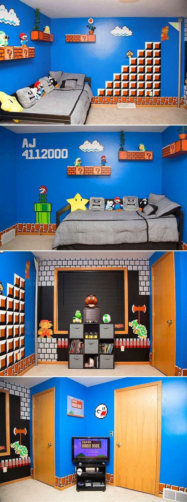 best 25 super mario room ideas on pinterest. Black Bedroom Furniture Sets. Home Design Ideas