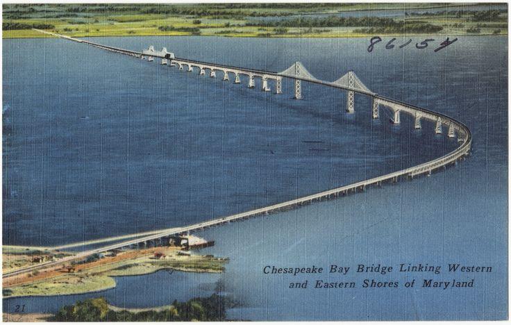 Chesapeake Bay Bridge linking western and eastern shores of Maryland