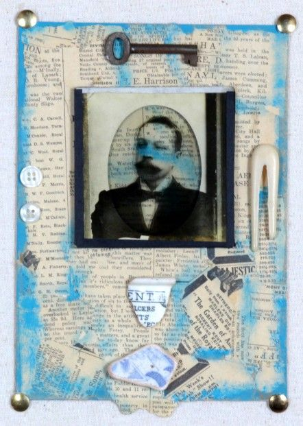 Ruby Rae_The Man Who Was_Mixed Media & Assemblage_10x8.5 | Scottish Contemporary Art