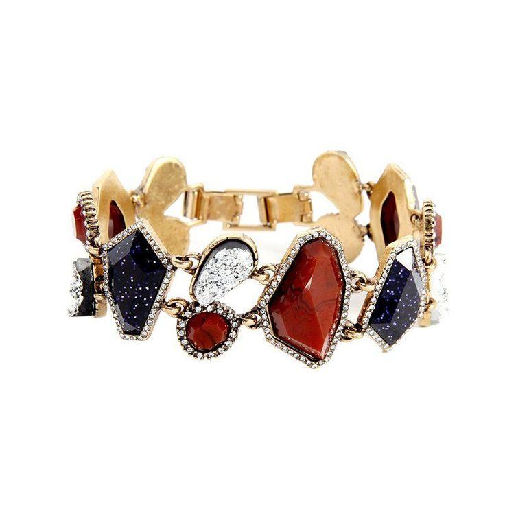 Fashion Bracelet - Tende Eye-catching Multicolor Irregular Resin Geometric Bracelet