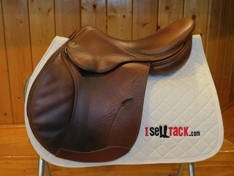 """Full calf Antares 17"""" for under $2,400! French used saddle for sale, CWD, Butet, Devoucoux, Antares, Delgrange – I Sell Tack.com"""