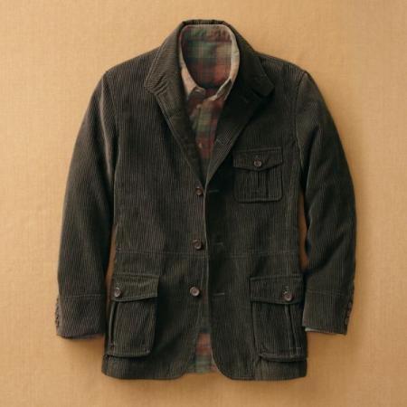 TravelSmith Mens Corduroy Travel Coat | Men sweater ...