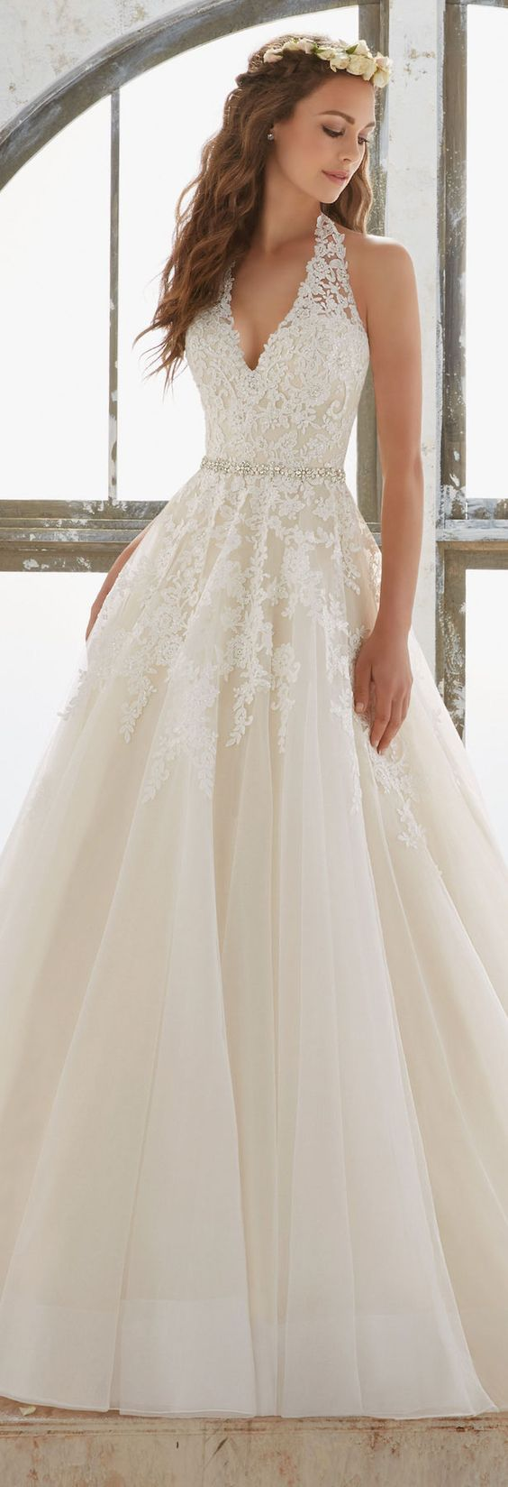 Featured Dress: Mori Lee; Wedding dress idea.