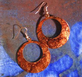 Handmade circle earrings by Emily Parker