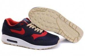 """2015 ordinare uomo nike air max 1 """"omega"""" ossidiana,sport-rosse scarpe da ginnastica a basso costo it"""