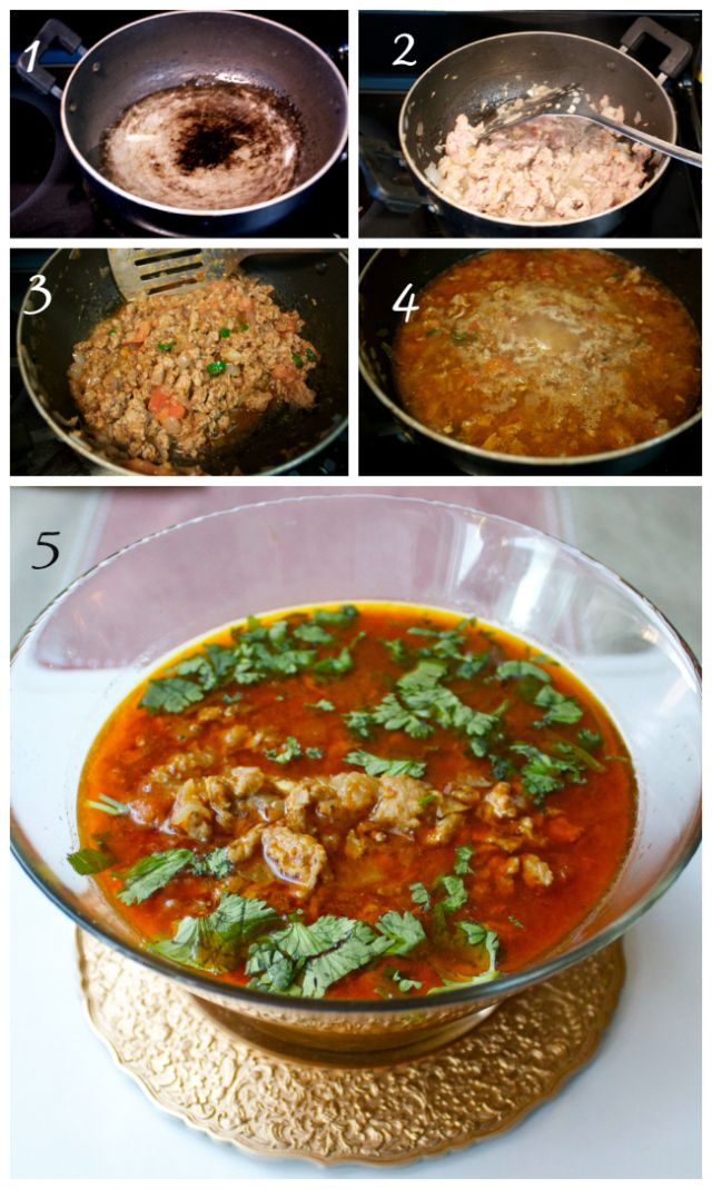 Recipe for Chicken Keema Curry Indian style