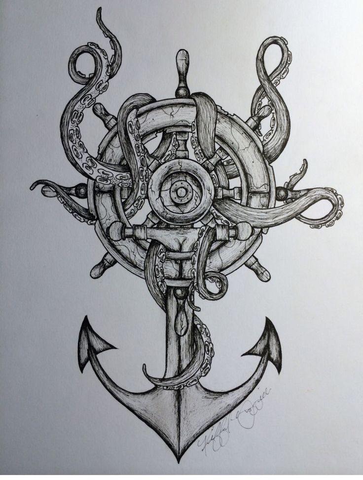 Love this for an ocean/nautical tattoo