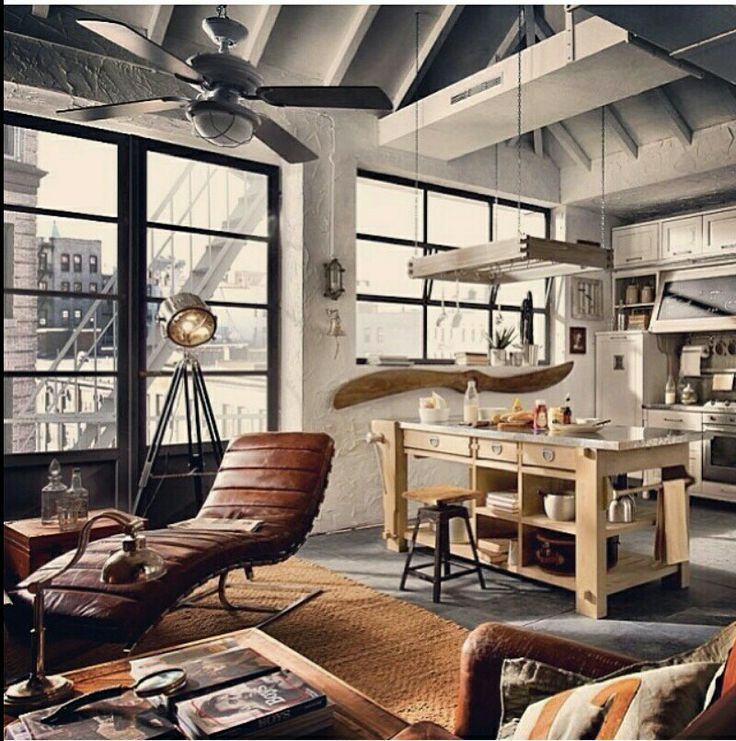 A loft space with beatiful rustic look