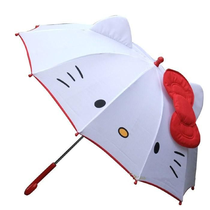 New Lovely Cartoon Hello Kitty Banana Umbrella for Kids Girl Sweet Umbrella Baby White Umbrella with Bow $48.66 | DHgate.com