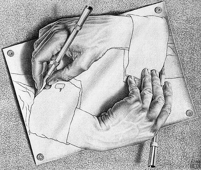 Drawing-Hands-MC-Escher-1948
