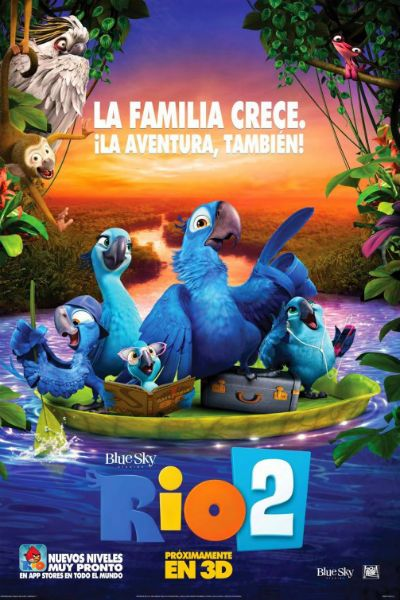 Director: Carlos Saldanha Writers: Don Rhymer (screenplay), Carlos Kotkin Stars: Jesse Eisenberg, Anne Hathaway, Jemaine Clement Genres: Animation | Adventure | Comedy | Family | Musical It's a jungle out there for Blu, Jewel and their three kids after they're…Read more →
