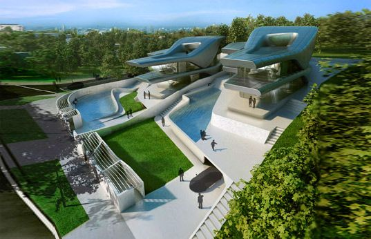 Zaha Hadid S Peaceful Nassim Villas For Singapore Villas