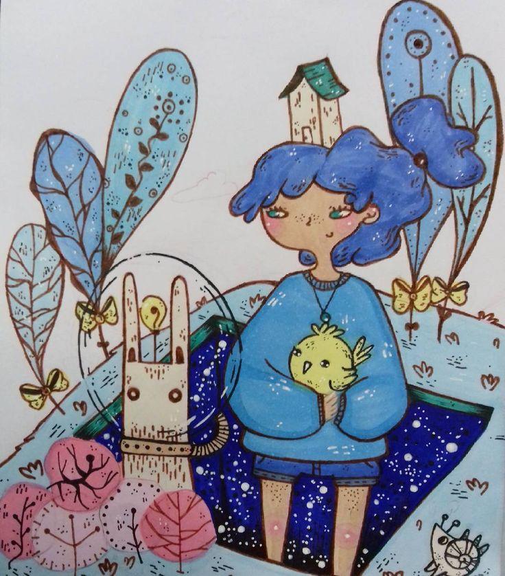 """12 Me gusta, 2 comentarios - Ñaña (@ferniska) en Instagram: """"#wip #workinprogress #artwork #art #doodle #draw #dessin #copic #copicmarkers #dibujo #sketch…"""""""