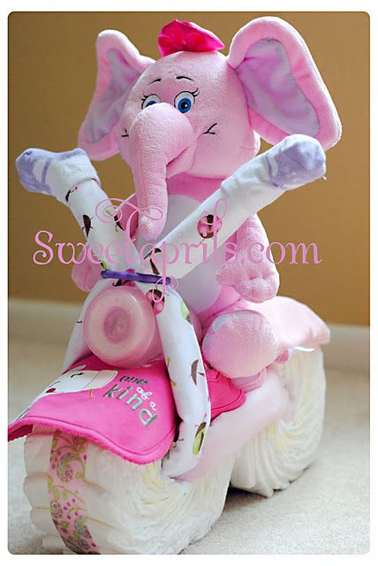 Diaper Bike - one of my friends needs to get pregnant so I can make one of these...TOO CUTE!!!
