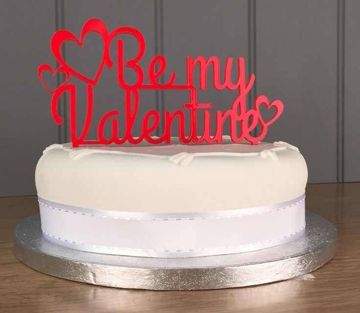 Handmade valentines cake topper available to order from my Etsy page!