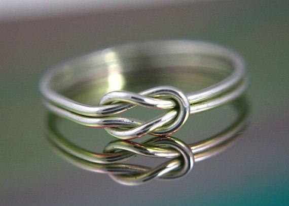 Nautische Knoten unendlich Knot Ring Sterling von CapturedIllusions