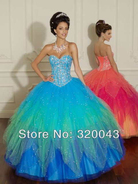 2014 chicas populares Puffy T038 diseño de quinceañera vestidos