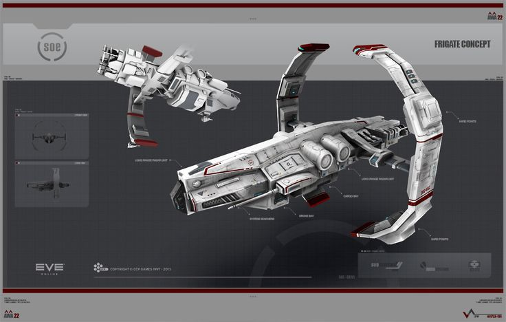 Sisters of EvE Frigate concept for the Rubicon Expansion of EvEonline.com