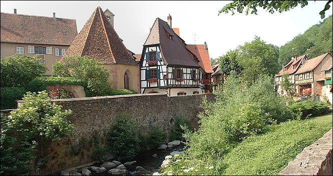 Vue de la rue de l'Oberhof à Kaysersberg