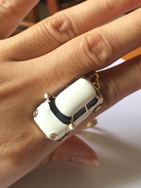 mini gold car ring  super mini car  Personality by KLcarDesign