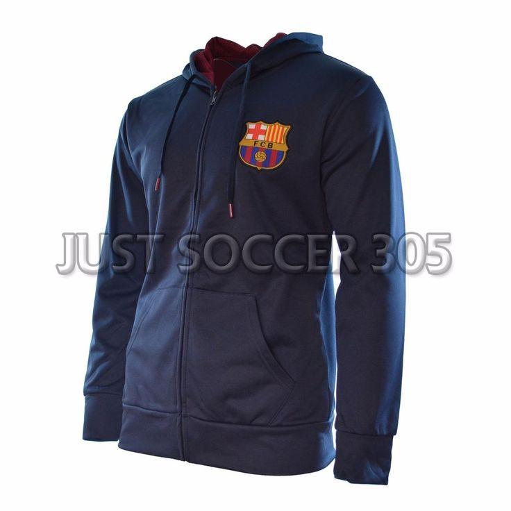 Fc Barcelona Hoodie Jacket Zip Up lightweight Soccer Lionel Messi 10 #HKY #FCBarcelona