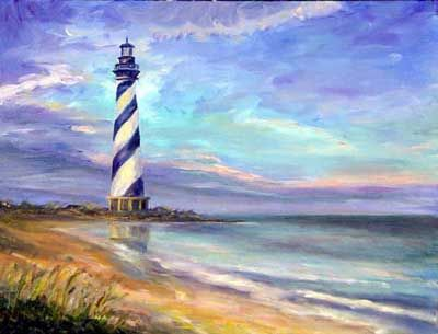 Cape Hatteras Lighthouse Oil painting on Canvas